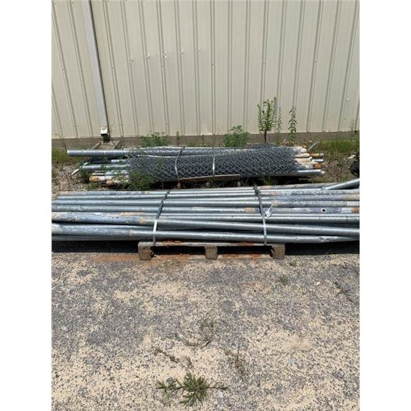 APPOX (60) POLES CHAIN LINK FENCE POST, 9.6' TALL  ~Selling Offsite: Located in De Kalb, MS~