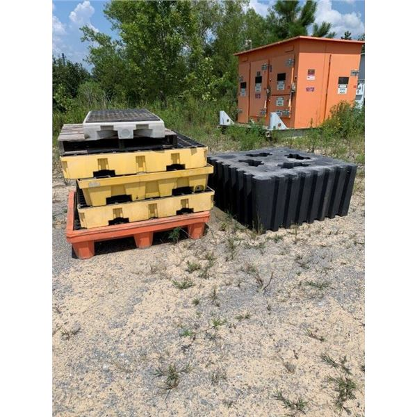 CONTAINMENT SKIDS, MISC SIZES ~Selling Offsite: Located in De Kalb, MS~