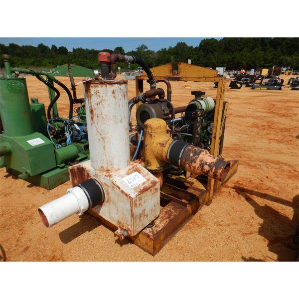 WELL POINT PUMP W/JOHN DEERE DIESEL ENGINE, SKID MTD, 238 HOURS