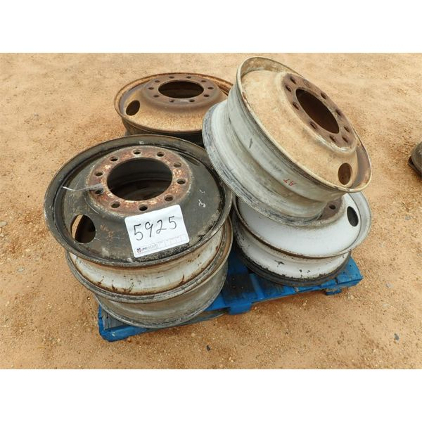 (6) TRUCK TRACTOR RIMS (A2)
