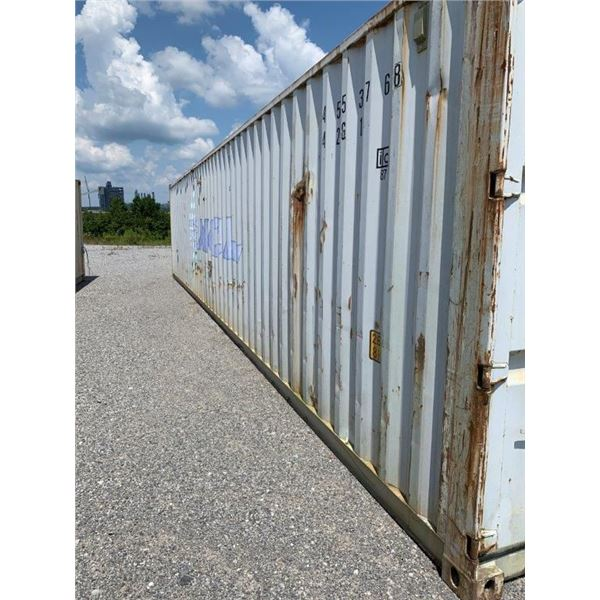40' STORAGE CONTAINER ~Selling Offsite: Located in De Kalb, MS~