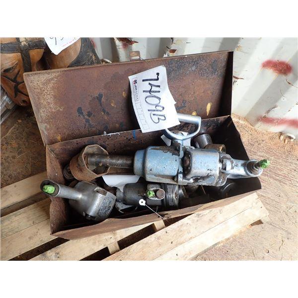 BOX OF AIR TOOLS & SOCKETS