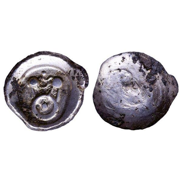 Ancient India: Kuntala Janapada, Archaic Punch Marked Coinage, Silver 5 Shana, 6.51gms