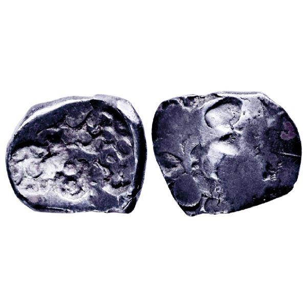 Ancient India: Panchala Janapada, Archaic Punch Marked Coinage, Silver ½ Karshapana, 1.97gms