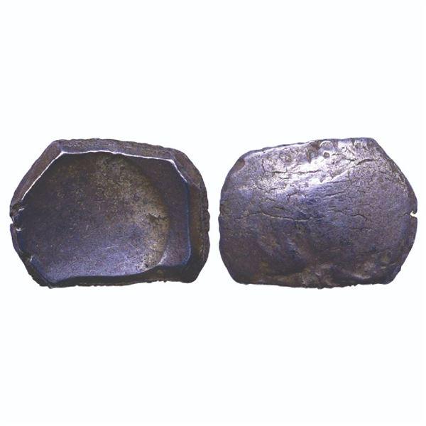 Ancient India: Archaic Punch Marked Coinage, attributed to Kamboja Janapada, Silver Karshapana, 2.82