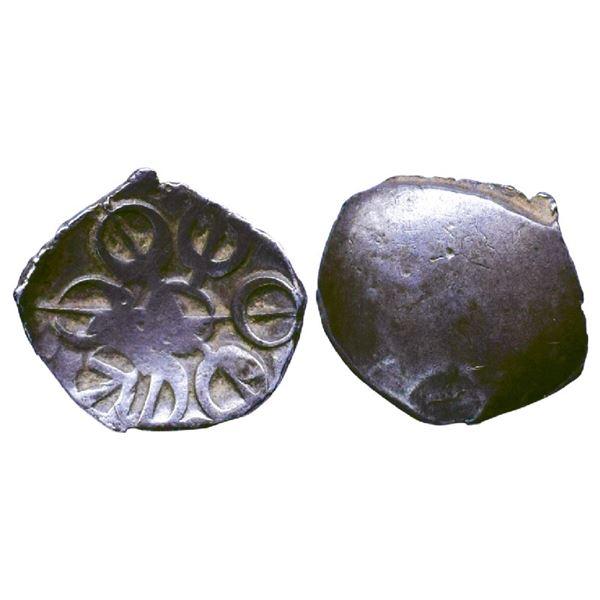 Ancient India: Gandhara Janapada, Archaic Punch Marked Coinage, Silver Shana, 1.41gms