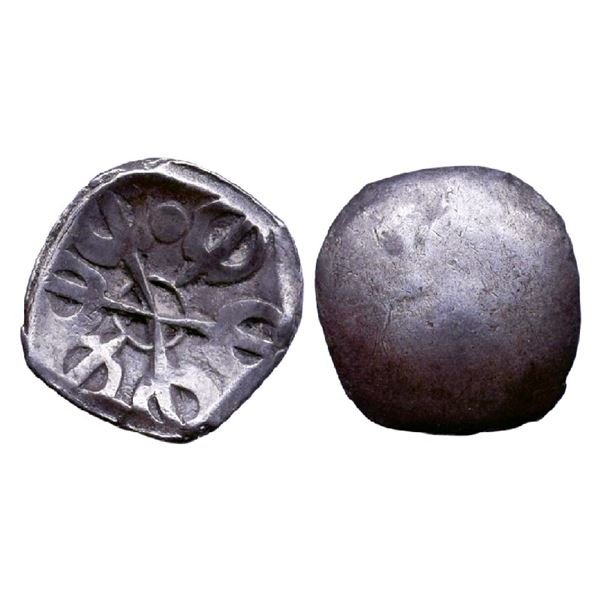 Ancient India: Gandhara Janapada (c. 500-400 BC), Archaic Punch Marked Coinage, Silver Shana, 1.42gm