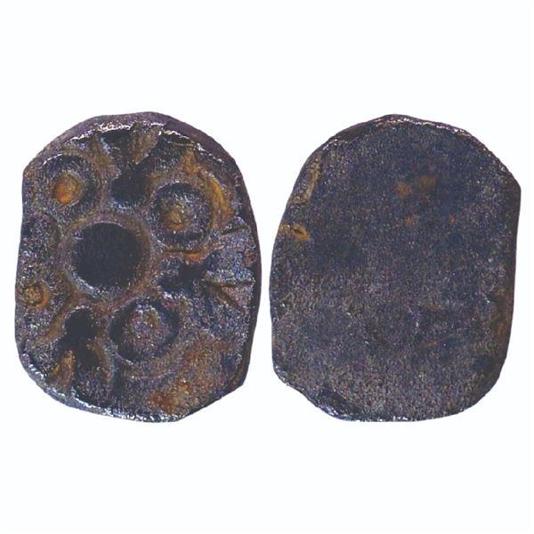 Ancient India: Avanti Janapada, Archaic Punch Marked Coinage, Silver ½ Karshapana, 1.60gms