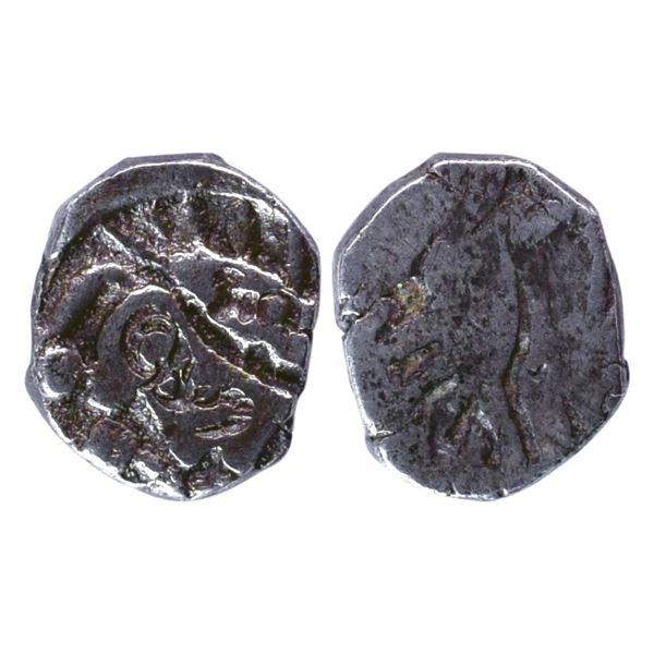 Ancient India: Shurasena Janapada, Archaic Punch Marked Coinage, Silver ½ Karshapana, 1.70gms