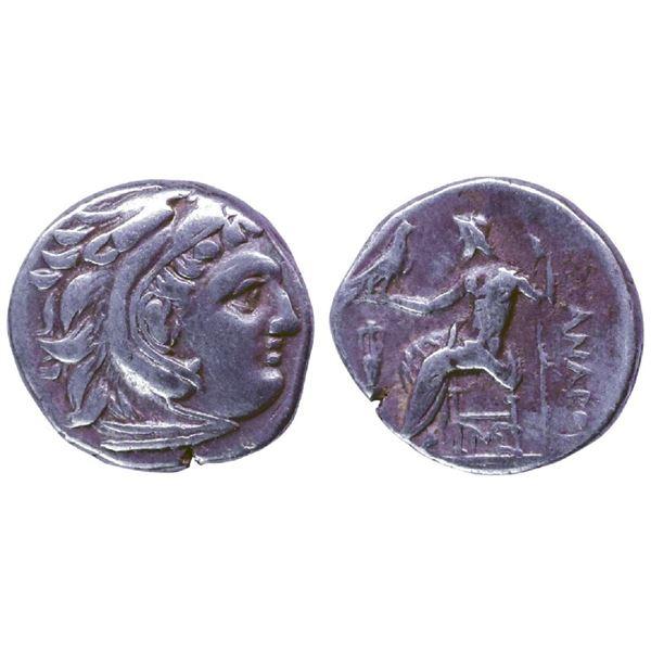 Ancient India: Kingdom of Macedonia, Alexander III, Silver ¼ Drachma