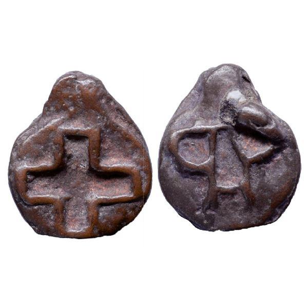Ancient India: Mauryan Period, Pauni Area, Cast Copper, 12.20gm