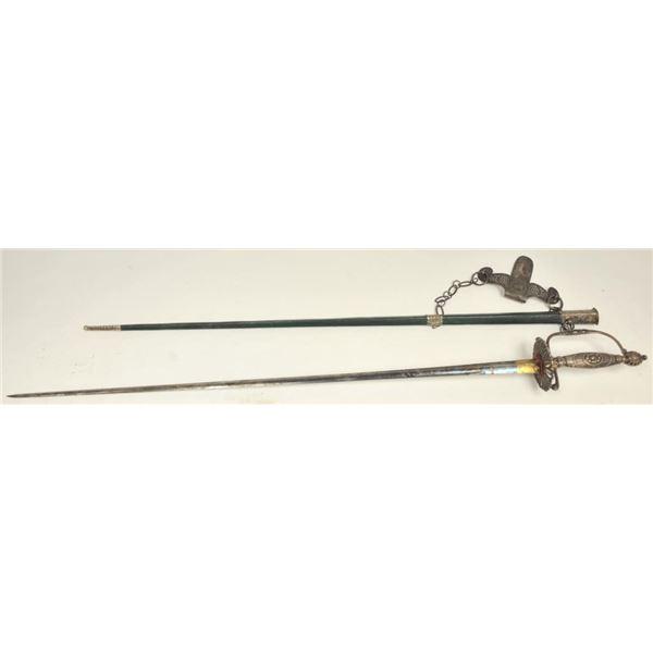 21BG-A162 SILVER MTD SMALL SWORD