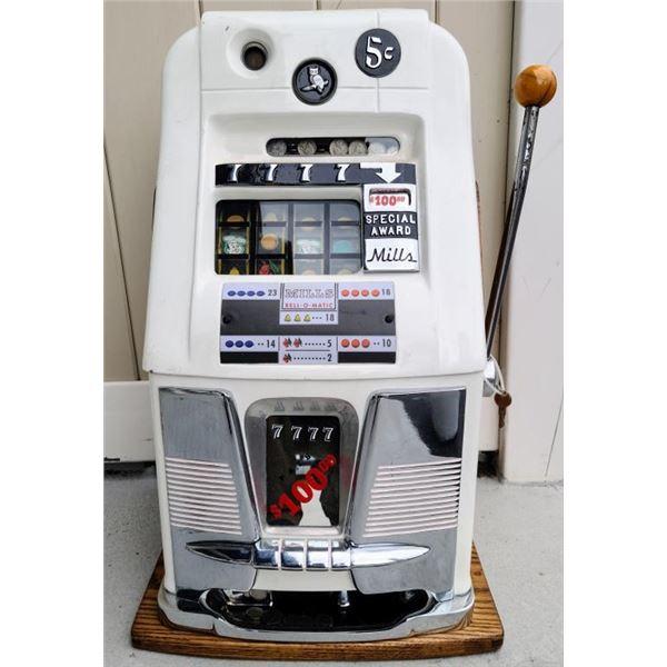 21CD-3 MILLS 5 CENT SLOT MACHINE