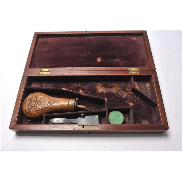 21BL-4 1860 ARMY CASE W/FLASK & MOLD