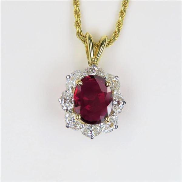 21CAI-5 RUBY & DIAMOND PENDANT