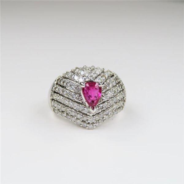 21CAI-18 RUBY & DIAMOND RING