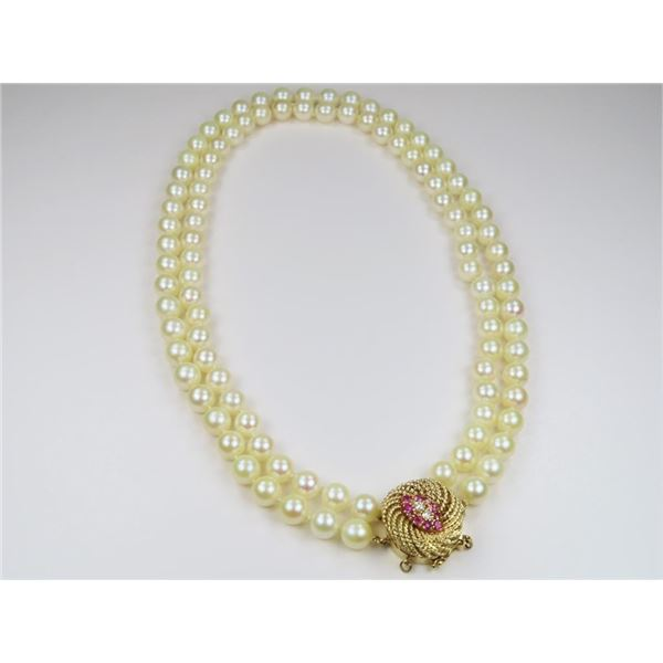 21CAI-14 DOUBLE STRAND OF PEARLS