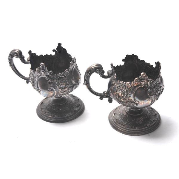 21BH-8 SILVER GLASS HOLDERS