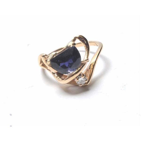 21RPS-3 SAPPHIRE & DIAMOND RING
