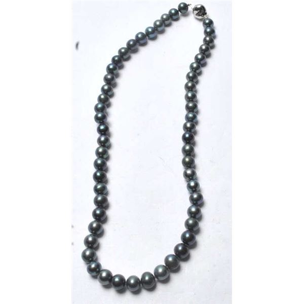 21RPS-9 BLACK PEARL NECKLACE