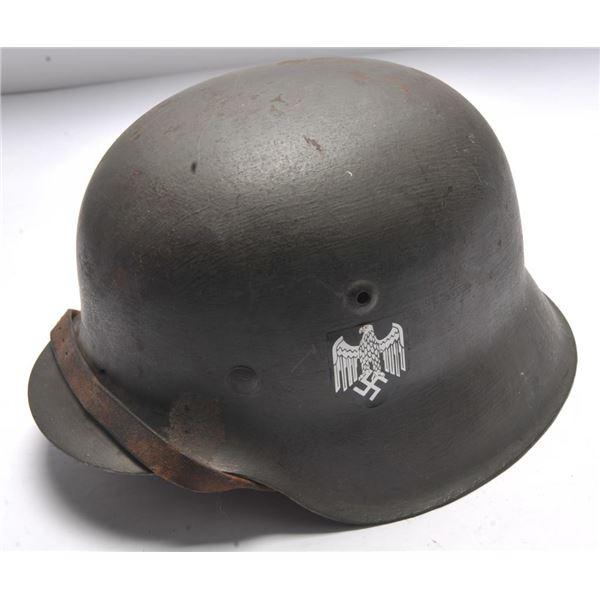 21BH-13 GERMAN M 35 NAZI ERA HELMET
