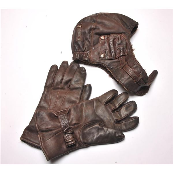 21BH-24 AVIATOR CAP AND GLOVES