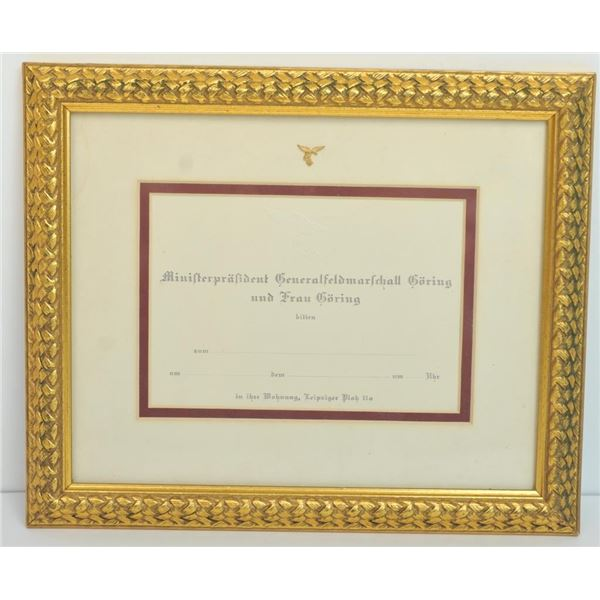 21DC-107 GORING PIN AND INVITATION