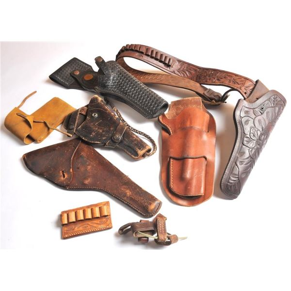 21BK-56 5 MISC. LEATHER & HOLSTERS