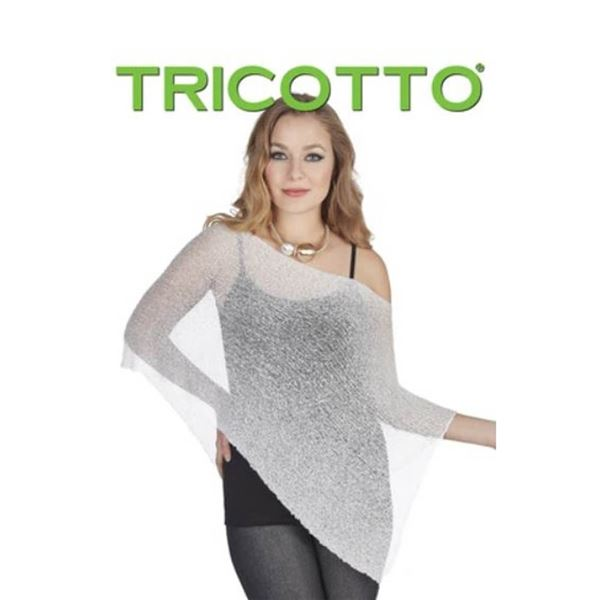 TRICOTTO O/S SHAWL COVER UP TOP; WINTER/ SILVER