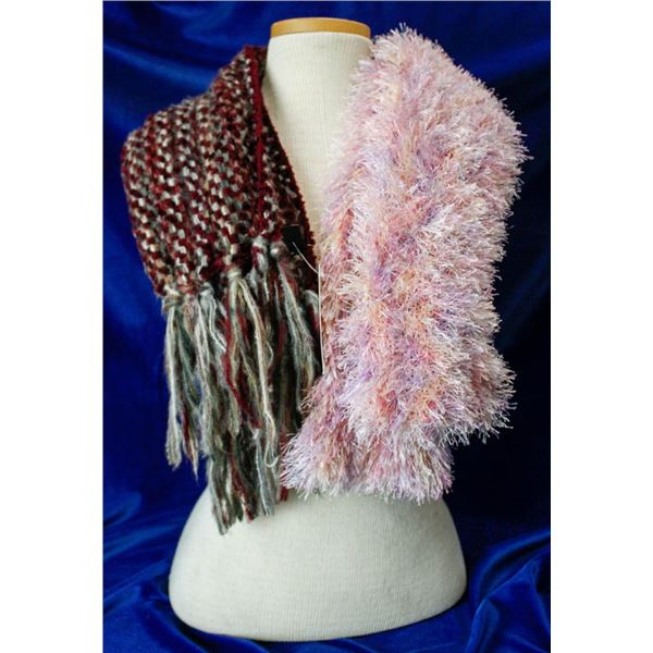 LOT OF 2 NEW HANDCRAFTED SCARVES