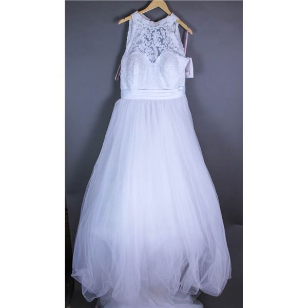 WHITE DEVINCHY BRIDAL GOWN, SIZE 20, STYLE 50399