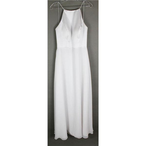 WHITE SORELLA VITA DESIGNER BRIDAL GOWN , SIZE 16