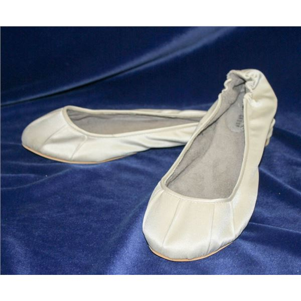BALLET SLIP ON DYED TO ORDER BRIDAL SHOES SIZE 10
