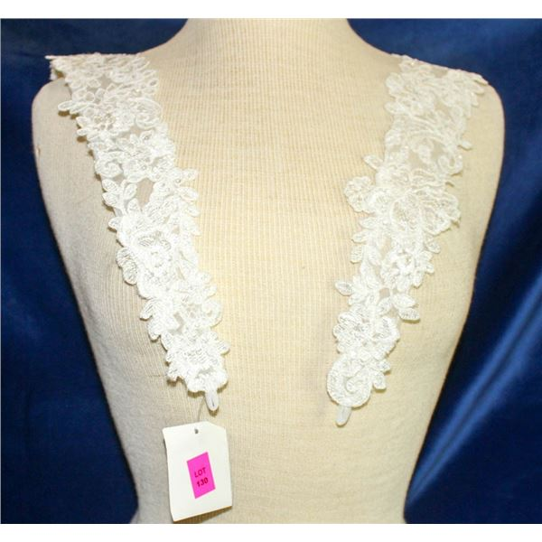 IVORY EMBROIDERED SHOULDER CAPS - BY ESSENCE OF