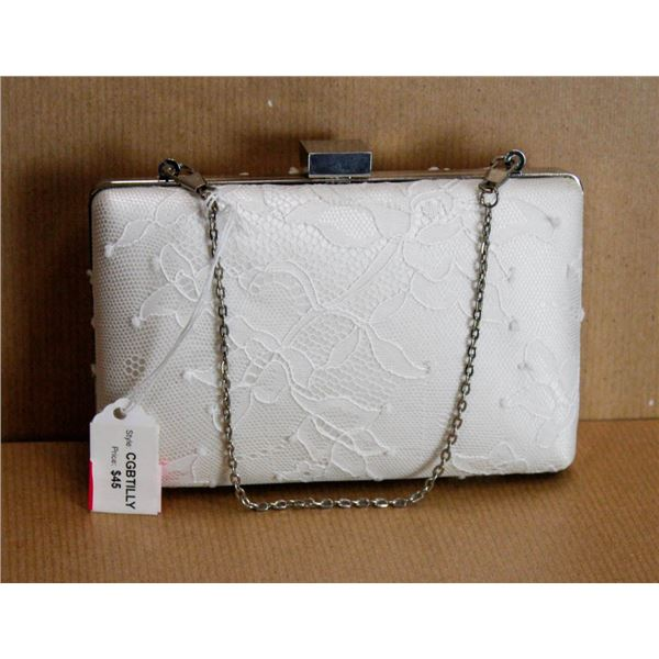 IVORY LACE FORMAL CLUTCH