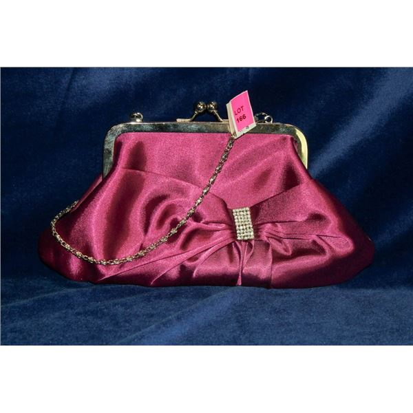 PURPLE AND SILVER FORMAL HAND BAG