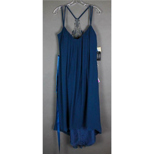 SLATE BLUE VENUS DESIGNER FORMAL DRESS SIZE 16