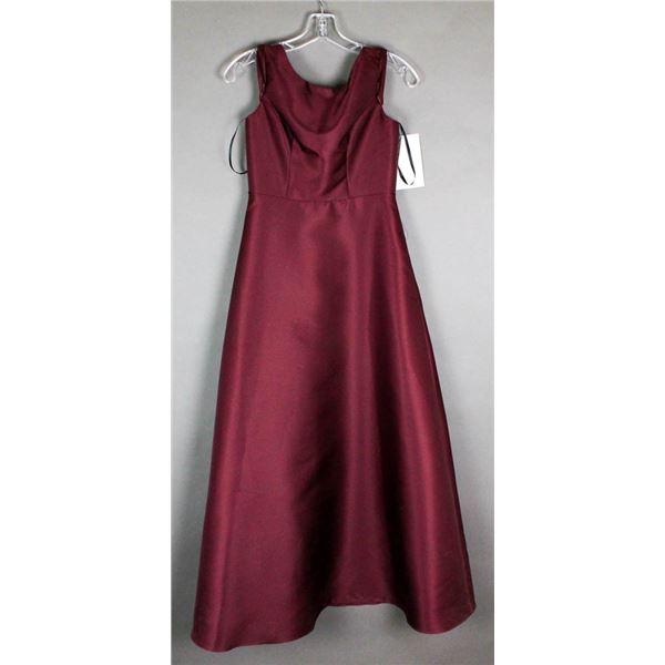 BURGUNDY SORELLA VITA DESIGNER FORMAL DRESS
