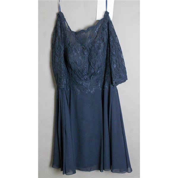 NAVY BLUE VENUS FORMAL DESIGNER DRESS SIZE 18