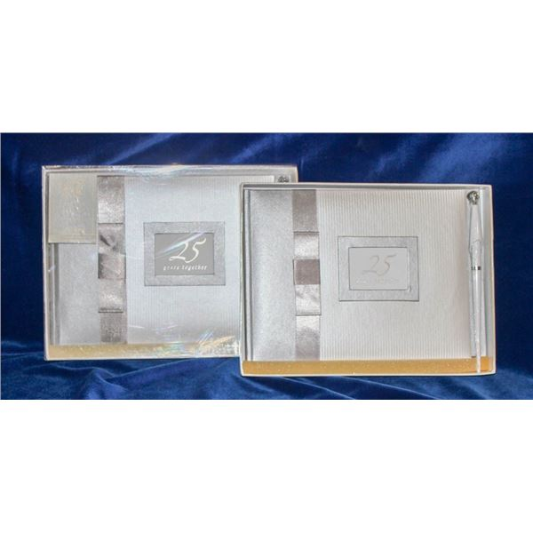 """LOT OF 2 """"25 YEARS TOGETHER"""" GUEST BOOKS"""