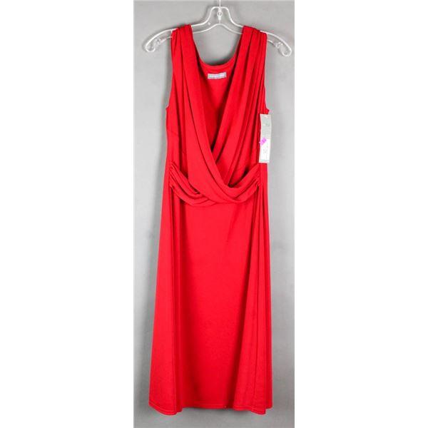 RED MICHAELA LOUISA FORMAL DESIGNER DRESS; SIZE 14