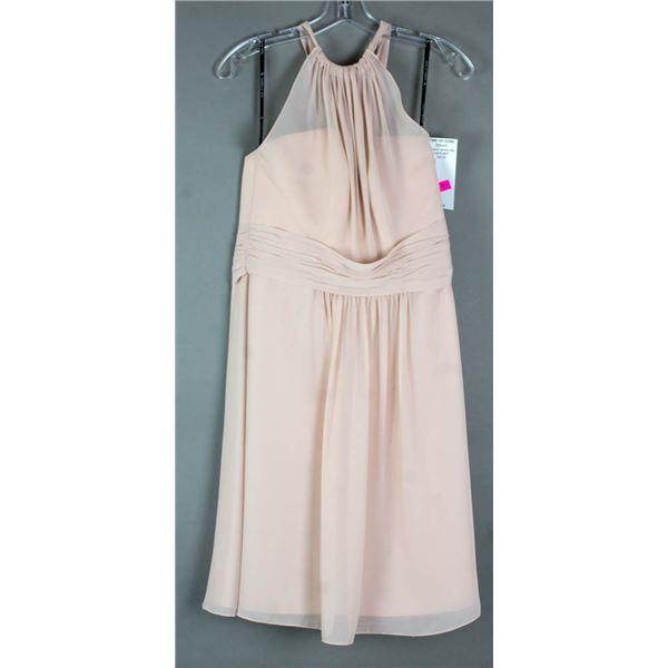 BLUSH SORELLA VITA DESIGNER FORMAL DRESS; SIZE 14