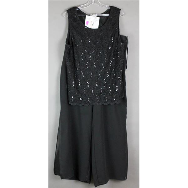 BLACK/ SEQUENCE DESIGNER 2PC FORMAL OUTFIT;