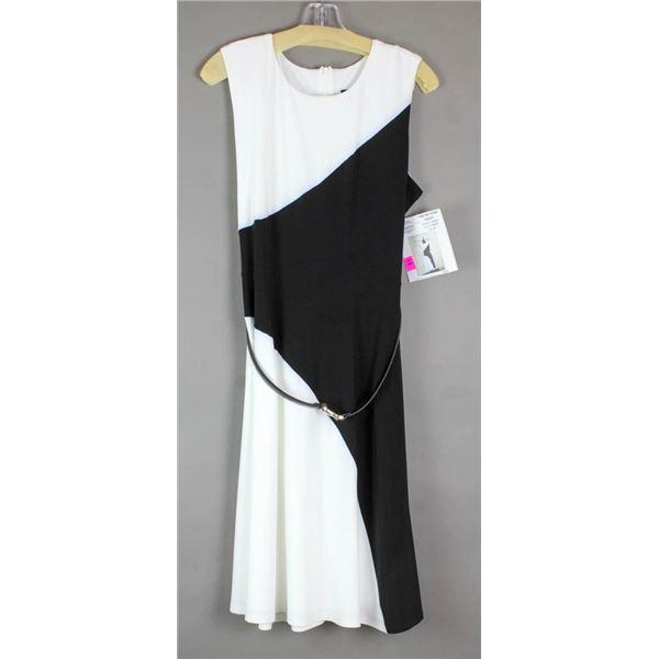 BLACK/WHITE CARTISE DESIGNER FORMAL DRESS
