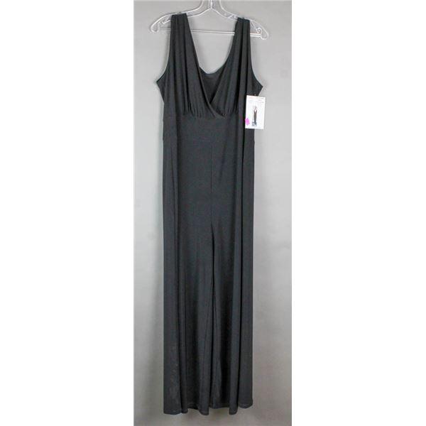BLACK JULIA IMPEX DESIGNER FORMAL DRESS; SIZE 14