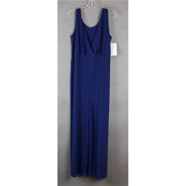 NAVY BLUE JULIA IMPLEX DESIGNER FORMAL DRESS;