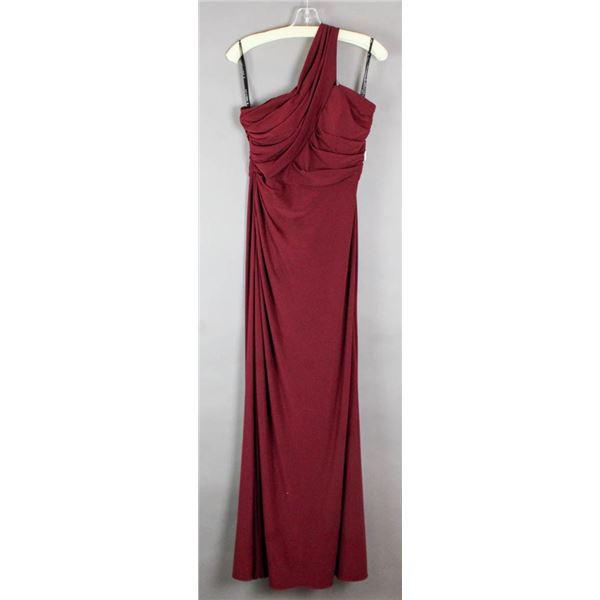 WINE RED SORELLA VITA SINGLE STRAP DESIGNER FORMAL