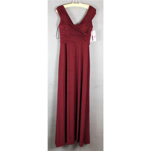WINE RED SORELLA VITA  DESIGNER FORMAL DRESS;