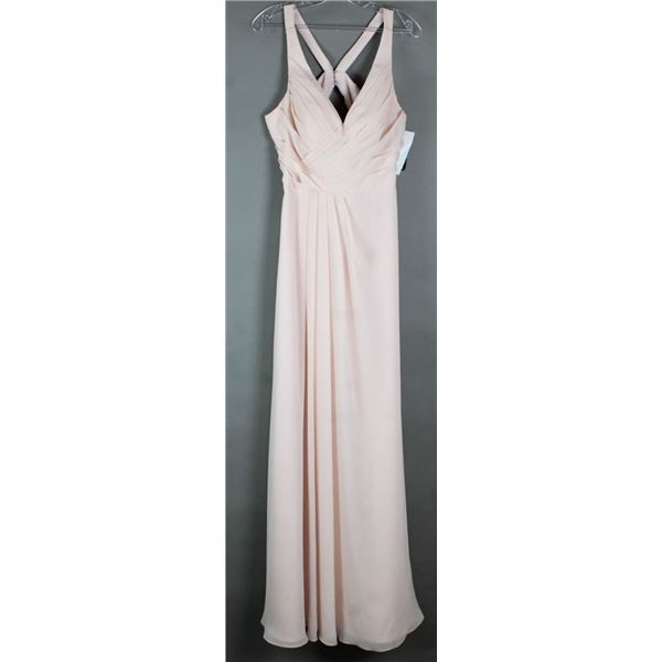 PINK SORELLA VITA DESIGNER FORMAL DRESS; SIZE 12