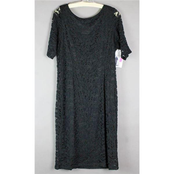 BLACK LACE JOLENE DESIGNER FORMAL DRESS; SIZE 3XL